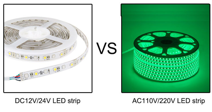 high voltage led strip or low voltage led strip lights