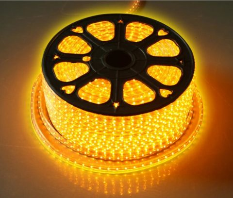 SMD2835 high voltage flexible led strip in warm white