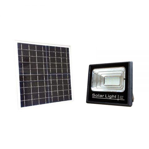 30 watts solar flood LED security light dusk to dawn smart control
