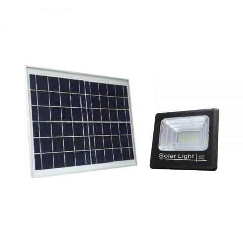 40w solar led flood & garden security light with motion detector