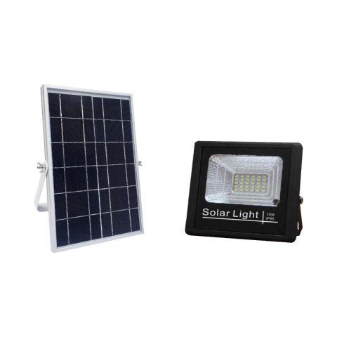 Motion sensing solar flood light kit 10 watts for backyard
