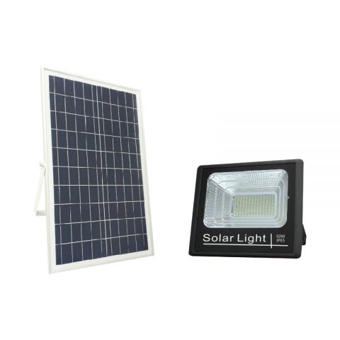 Multifunctional 50w 5000 lumen solar flood light harbor freight