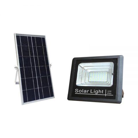 Retrofit nature power rechargeable solar flood light 20 watts